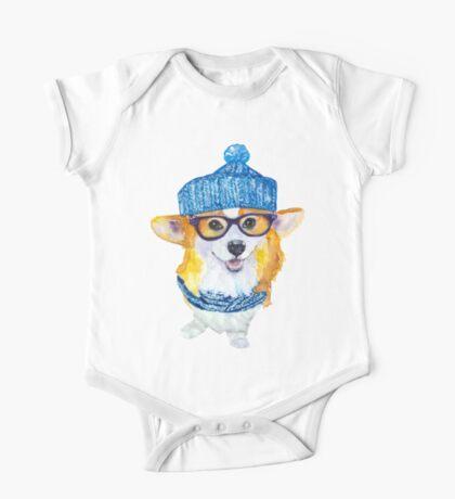 the corgi dog  One Piece - Short Sleeve