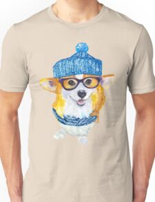 the corgi dog  Unisex T-Shirt