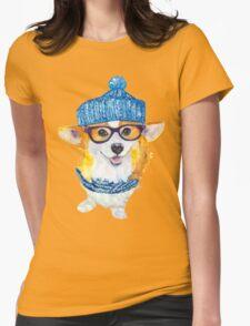 the corgi dog  Womens Fitted T-Shirt