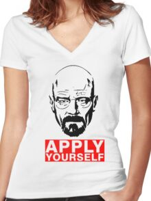 Apply Yourself  Women's Fitted V-Neck T-Shirt
