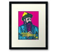 Johannes Gutenberg Framed Print