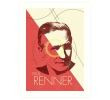 Paul Renner (type designer of Futura) Art Print