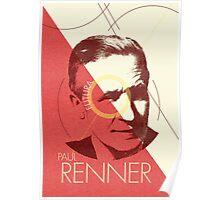 Paul Renner (type designer of Futura) Poster