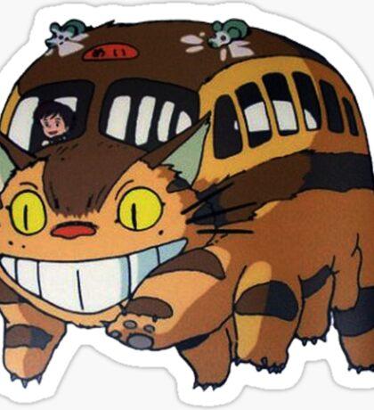 Cat Bus Totoro Sticker