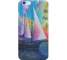Happy Father's Day Bodrum Turquoise Coast Gulet Cruise iPhone Case/Skin