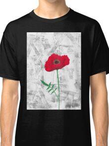 Isolated poppy Classic T-Shirt