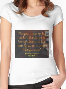 Everyday Courage Has Few Witnesses - Stevenson Women's Fitted Scoop T-Shirt