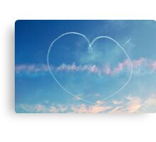 Heart in the sky Canvas Print