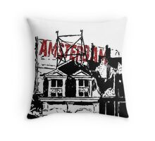 Amsterdam on the roof Throw Pillow