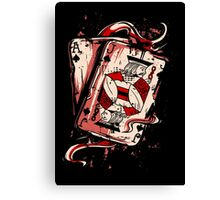 Playing To Win Ace and Jack of Spades Canvas Print