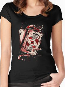 Playing To Win Ace and Jack of Spades Women's Fitted Scoop T-Shirt