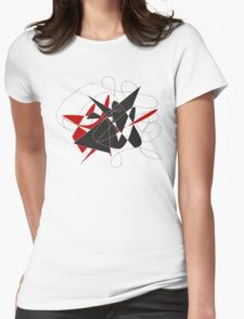 Bull caught in a barbed wire  Womens Fitted T-Shirt