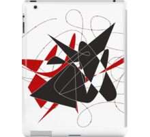 Bull caught in a barbed wire  iPad Case/Skin
