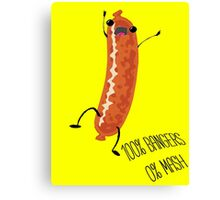 Silly Sausage Canvas Print