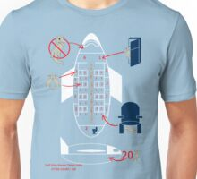 Otters on a plane Unisex T-Shirt