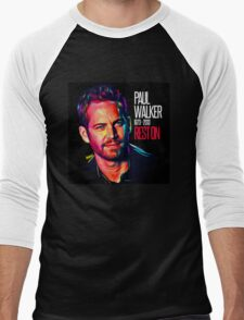 Paul Walker The Best of Actor Men's Baseball ¾ T-Shirt