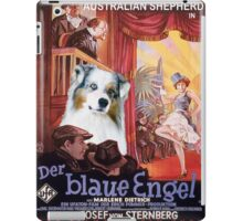 Australian Shepherd - Der Blaue Engel Movie Poster iPad Case/Skin