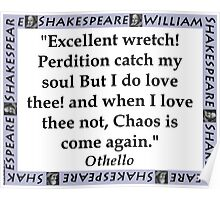 Excellent Wretch - Shakespeare Poster
