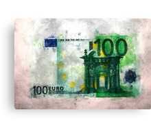 100 euro impressionism painting Canvas Print