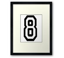 8, EIGHT, TEAM SPORTS, NUMBER 8, eighth, competition Framed Print