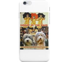Bearded Collie -  Singin in the Rain Movie Poster iPhone Case/Skin