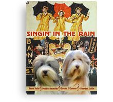 Bearded Collie -  Singin in the Rain Movie Poster Canvas Print