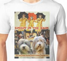 Bearded Collie -  Singin in the Rain Movie Poster Unisex T-Shirt