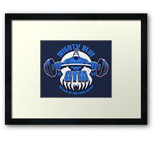 Mighty Blue Gym Framed Print