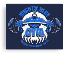 Mighty Blue Gym Canvas Print