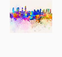 Incheon skyline in watercolor background Unisex T-Shirt