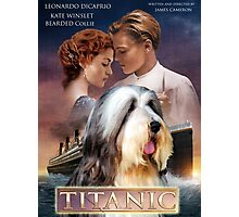 Bearded Collie - Titanic Movie Poster Photographic Print