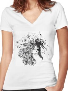 Good And Bad Women's Fitted V-Neck T-Shirt