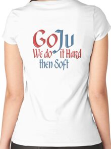 GO JU, Goju, Goju Ryu, MMA, Karate, Hard, Soft, Style, Combat, Empty Hand Women's Fitted Scoop T-Shirt