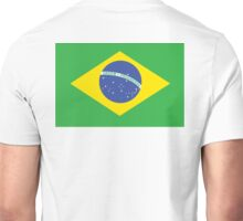 BRAZIL, BRAZILIAN FLAG, FLAG OF BRAZIL, PURE & SIMPLE, Brazil, Football, Soccer, Olympics, on Yellow Unisex T-Shirt