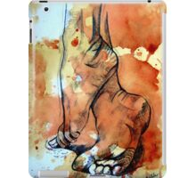 Barefoot in the rain iPad Case/Skin