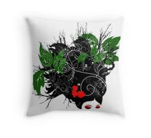 Brunch hair Throw Pillow