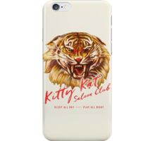 Kitty Kat Saloon Club - Cream iPhone Case/Skin