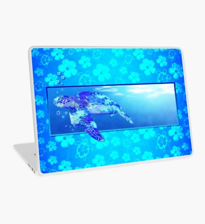 Underwater Sea Turtle Laptop Skin