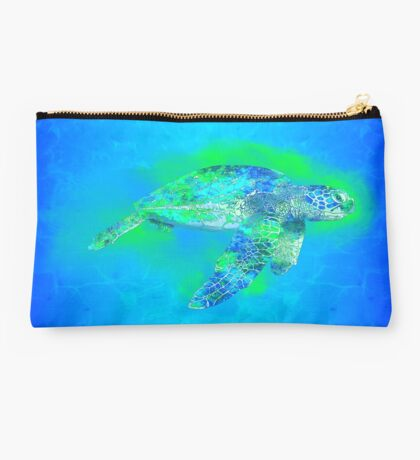 Swimming Sea Turtle Studio Pouch