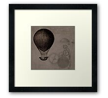 Vintage Hot Air Balloon Framed Print
