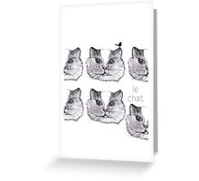 Le chat Greeting Card