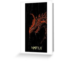 Smaug (blood red ) Greeting Card