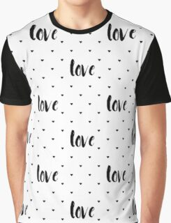 Monochrome love pattern Graphic T-Shirt