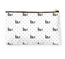 Monochrome love pattern Studio Pouch