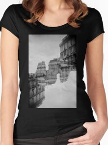London Double #1 Women's Fitted Scoop T-Shirt