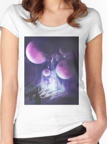 Pilgrimage of the Orbs Women's Fitted Scoop T-Shirt