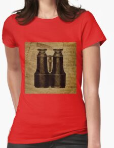 Vintage Binoculars Womens Fitted T-Shirt