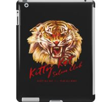 Kitty Kat Saloon Club - Charcoal iPad Case/Skin