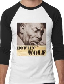 Howlin' Wolf (ink portrait ) Men's Baseball ¾ T-Shirt