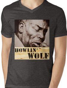 Howlin' Wolf (ink portrait ) Mens V-Neck T-Shirt